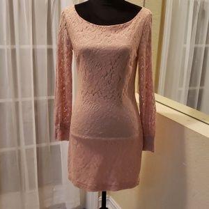 Peach laced dress